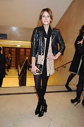 ALEXA CHUNG at the 2008 British Fashion Awards held at the Lawrence Hall, Westminster, London on 25th November 2008.