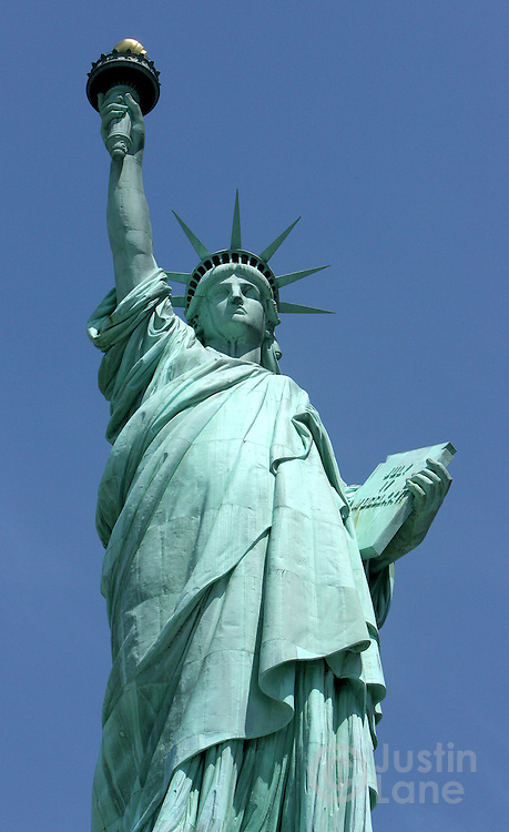 A view of the Statue of Liberty in New York Harbor in New York, New York on 21 June 2007. The 46.84 meter tall statue, which was given to the United States by France on 4 July 1884, is one of 21 sites around the world being voted on to be the new 7 wonders of the world.