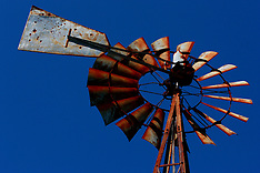 20th Century (old west style) Windmills Royalty Free Stock Images