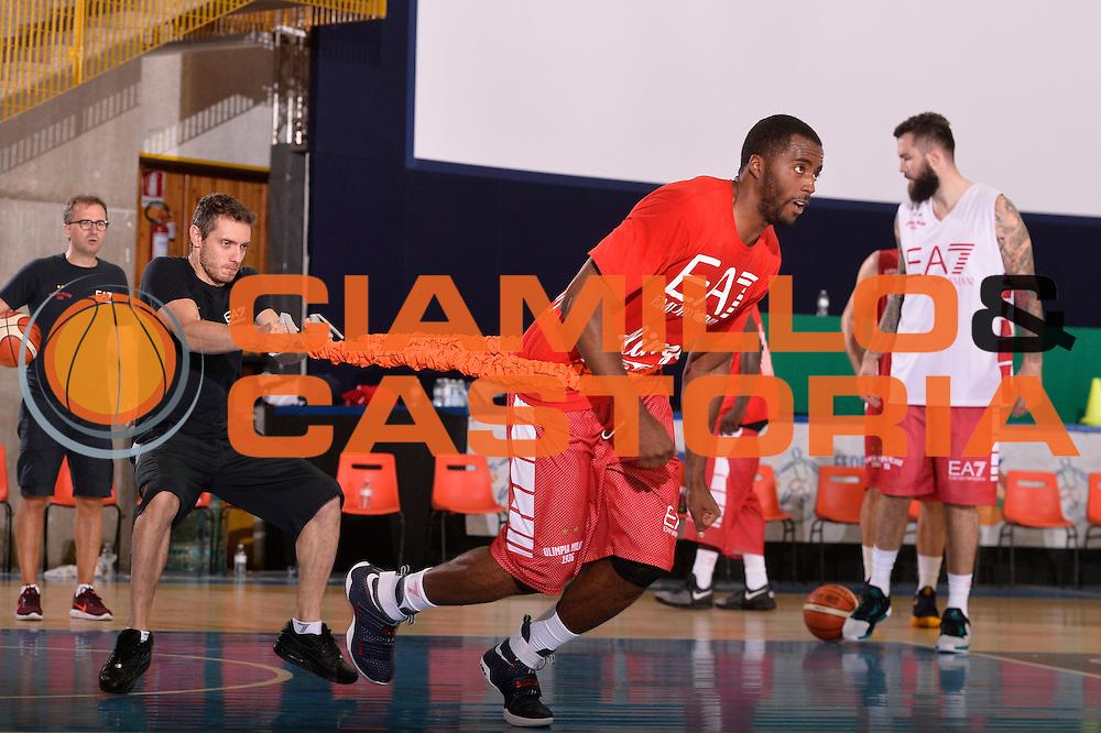 Jamel McLean <br /> EA7 Emporio Armani Olimpia Milano allenamento<br /> Lega Basket Serie A 2016/2017<br /> Bormio 03/09/2016<br /> Foto Ciamillo-Castoria