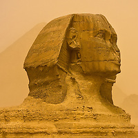 The Sphinx in a multi-day sandstorm