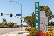 Signage Of Golden West Community College Huntington Beach