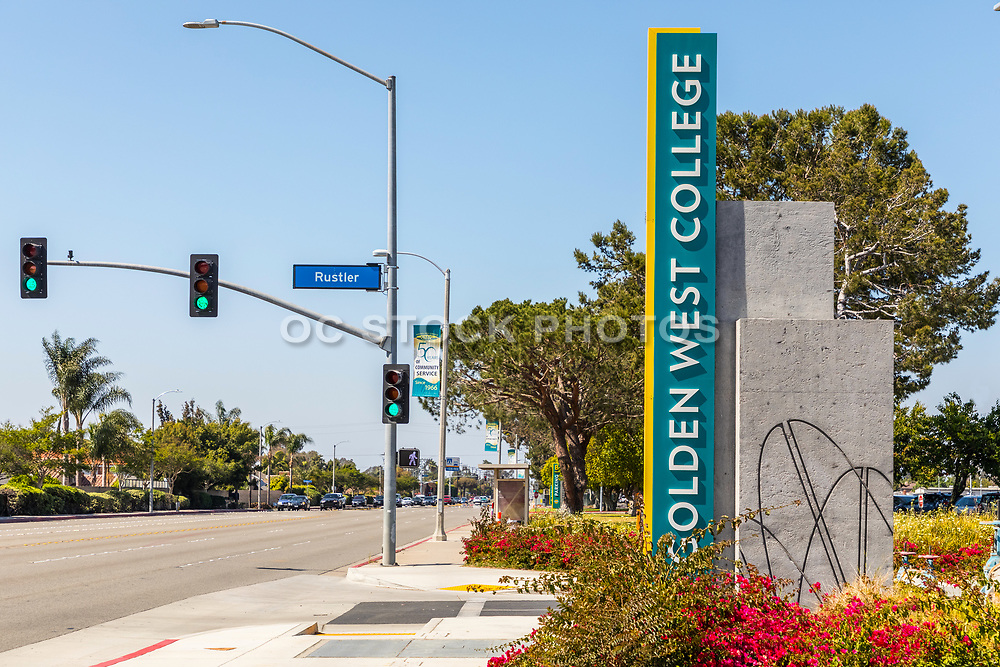 Signage Of Golden West Community College Huntington Beach