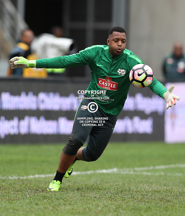 Itumeleng Khune (GK) (c) of Bafana Bafana South Africa during the match between Bafana Bafana South Africa and Guinea-Bissau at Moses Mabhida Stadium in Durban South Africa,25 March 2017 (Steve Haag)