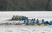 Hammersmith, GREATER LONDON. United Kingdom Cambridge University  Boat  Club, Pre Boat Race Fixture CUBC vs ITA M8+ for the 2017 Boat Race The Championship Course, Putney to Mortlake on the River Thames.<br /> <br /> Saturday  18/03/2017<br /> <br /> [Mandatory Credit; Peter SPURRIER/Intersport Images]<br /> CUBC<br /> <br /> [R-L]. S. Henry Meek, 7. Lance Tredell,6. Patrick Eble,5. Aleksander Malowany, 4. Timothy Tracey, 3. James Letten, 2. Freddie Davidson, B. Ben Ruble and Cox. Hugo Ramambason Italy (not in seat order)<br />