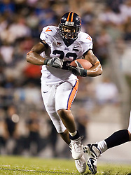 "Virginia running back Keith Payne (32)..The Virginia Cavaliers football team defeated Middle Tennessee State Blue Raiders 23-21 at Johnny ""Red"" Floyd Stadium  in Murfreesboro, TN on October 6, 2007."