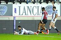 Essai de Krisnan Inu - 11.12.2014 - Stade Francais / Newcastle Falcons - European Rugby Challenge Cup<br />Photo : Andre Ferreira / Icon Sport