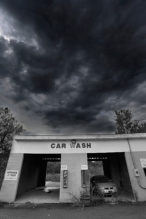 Abandoned car wash in Vermont