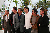 Jon Kilik, Channing Tatum, Steve Carell, Bennett Miller, Mark Ruffalo, Megan Ellison at the photo call for the film Foxcatcher at the 67th Cannes Film Festival, Monday 19th May 2014, Cannes, France.