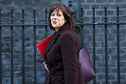 © Licensed to London News Pictures. 16/01/2018. London, UK. Minister of State at Department for Business, Energy and Industrial Strategy Claire Perry arrives on Downing Street for the weekly Cabinet meeting. Photo credit: Rob Pinney/LNP