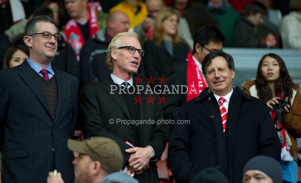 LIVERPOOL, ENGLAND - Sunday, May 15, 2011: Liverpool's Chairman Tom Werner with two guests during the Premiership match against Tottenham Hotspur at Anfield. (Photo by David Rawcliffe/Propaganda)