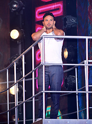 Winner Ryan Thomas leaves the house during the live final of Celebrity Big Brother at Elstree Studios, Hertfordshire.