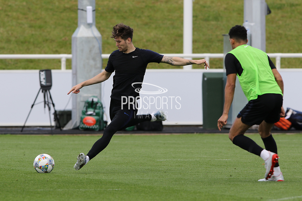 England defender John Stones during the training session for England at St George's Park National Football Centre, Burton-Upon-Trent, United Kingdom on 28 May 2019.