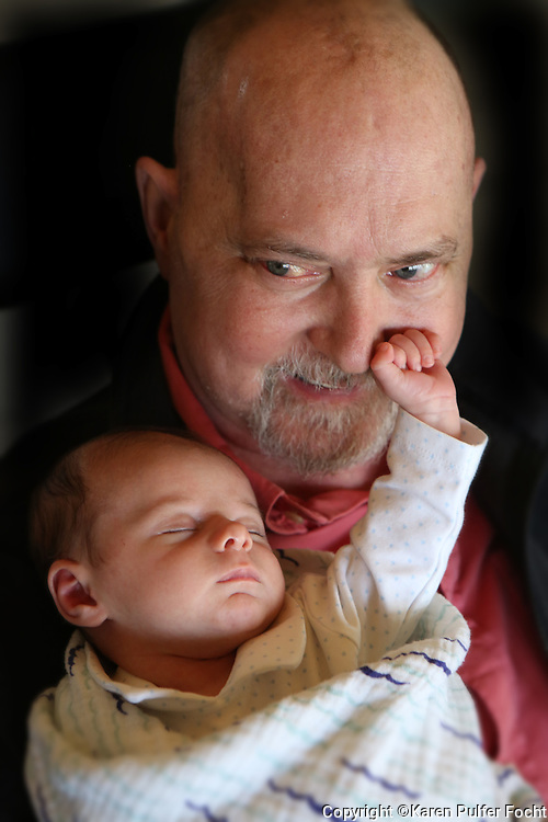 Bob Bolding of Memphis, Tennessee beat the odds and lived long enough to meet his grandson and namesake, baby Bobby Bolding. Bolding has an aggressive brain tumor, Glioblastoma Multiforme.  His son Mark named the first grandson in the family after Bob.
