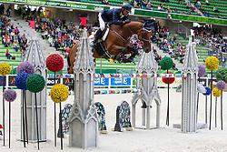 Carlos Lopez, (COL), Prince De La Mare - Team &amp; Individual Competition Jumping Speed - Alltech FEI World Equestrian Games&trade; 2014 - Normandy, France.<br /> &copy; Hippo Foto Team - Leanjo De Koster<br /> 02-09-14