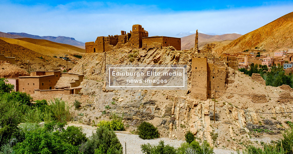 A ruined Kasbah in the mountain village of Imzzoudar (Imzoudar) in the Dades Valley, Morocco<br /> <br /> (c) Andrew Wilson | Edinburgh Elite media