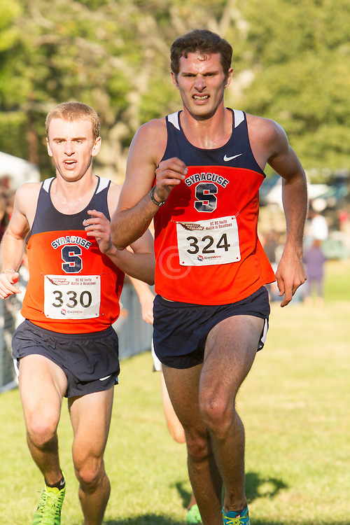 Boston College Invitational Cross Country race at Franklin Park; Dan Lennon and Griff Graves, Syracuse