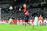 Aynsley Pears (42) of Middlesbrough \warming up ahead of the EFL Sky Bet Championship match between Fulham and Middlesbrough at Craven Cottage, London, England on 17 January 2020.