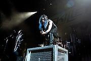 Skillet performing on the Avalanche Tour at the Allen County War Memorial Auditorium in Fort Wayne, IN on March 29, 2011