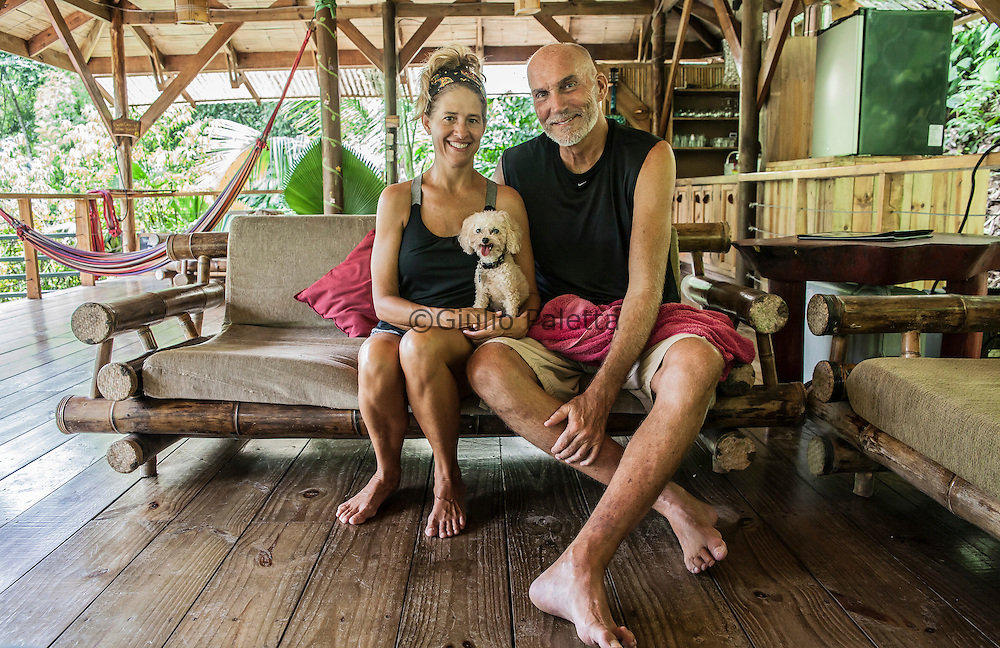 "Sandy and David, owners of ""Casa Paraiso"", one of the most beautiful tree houses of Finca Bellavista"