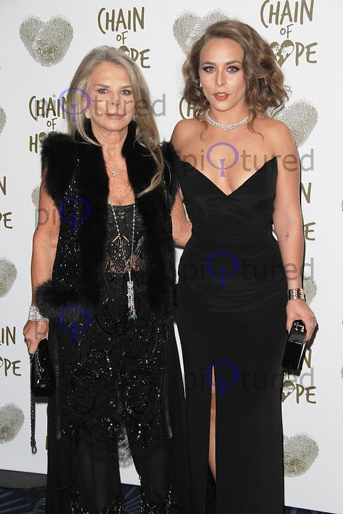 Lady Tina Green & Chloe Green, Chain of Hope Annual Ball 2014, Grosvenor House, London UK, 21 November 2014, Photo By Brett D. Cove
