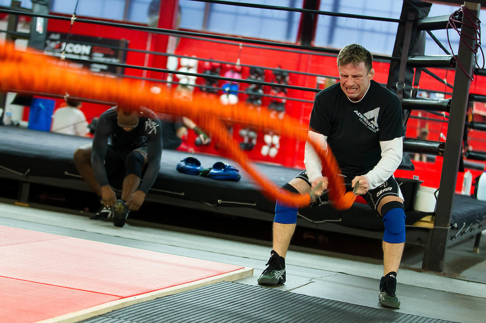 London, Ontario ---12-02-16---  Clint Kingsbury, a former member of the Canadian National Wrestling Team trains for the Toronto Tough Mudder competition at the Adrenaline Training Centre in London, Ontario, February 16, 2012. .GEOFF ROBINS The Globe and Mail