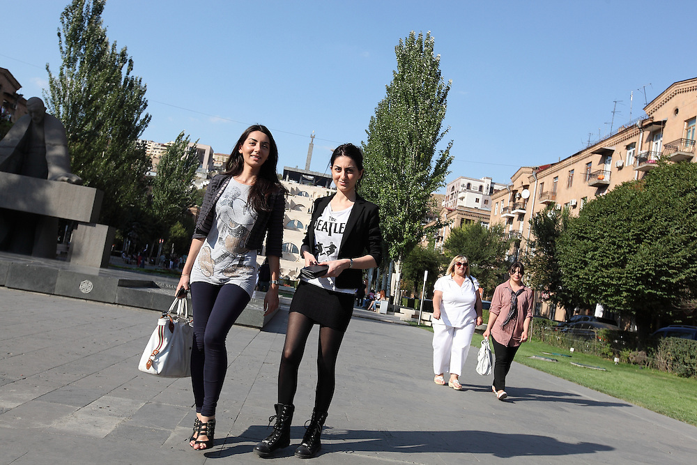 Armenian Girls and tourists