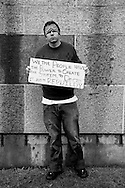 Portraits of people at Occupy LA in downtown Los Angeles..Kevin Guest, from Los Angeles..