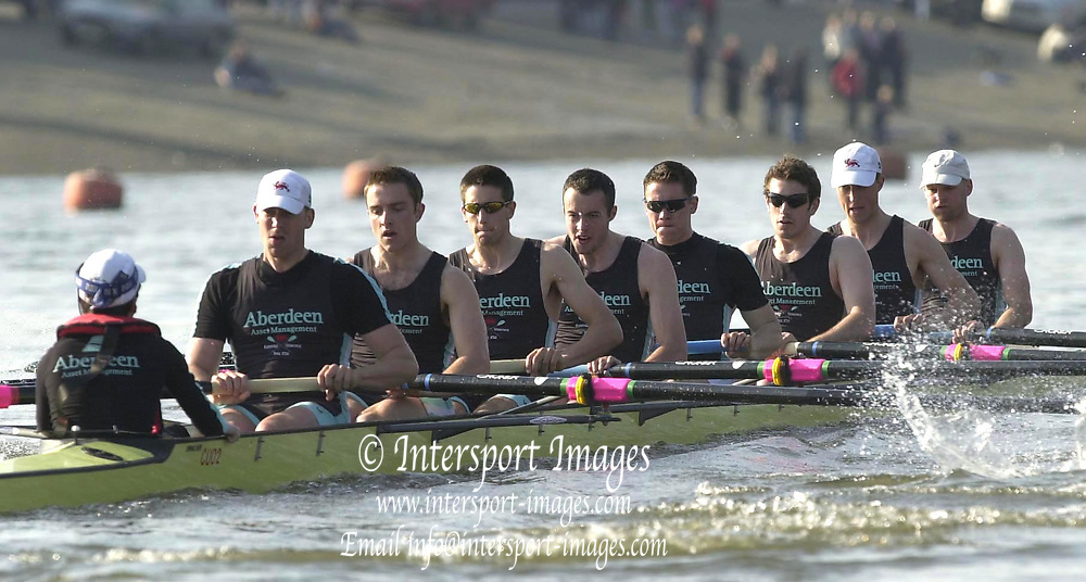 &copy; Peter Spurrier / Sports Photo<br /> Tel +44 7973 819 551<br /> Photo Peter Spurrier<br /> 23/03/2003<br /> Varsity - Cambridge University Boat Club v Croatia<br /> Cambridge move away at the start of their race with the Crotia National Squard.