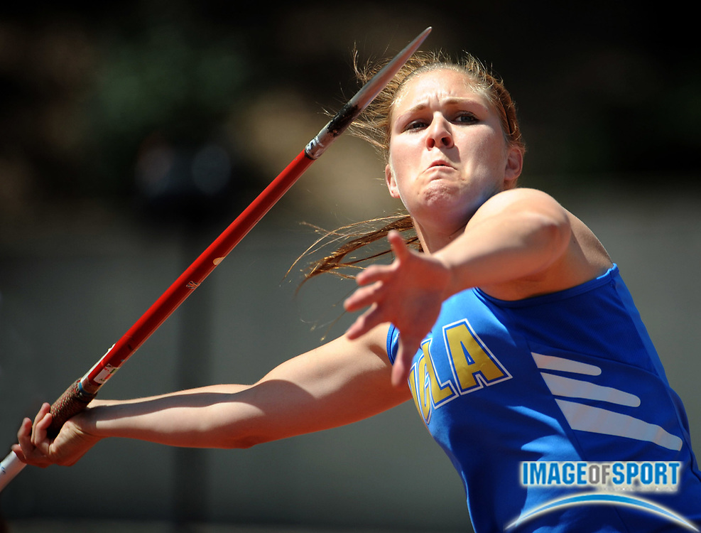 May 3, 2008; Los Angeles, CA, USA: Tara Ross of UCLA was second in the women's javelin at 154-7 (47.13m) in dual meet against Southern California at Drake Stadium.