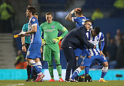 Beram Kayal, Brighton midfielder goes off injured during the Sky Bet Championship match between Brighton and Hove Albion and Bournemouth at the American Express Community Stadium, Brighton and Hove, England on 10 April 2015.