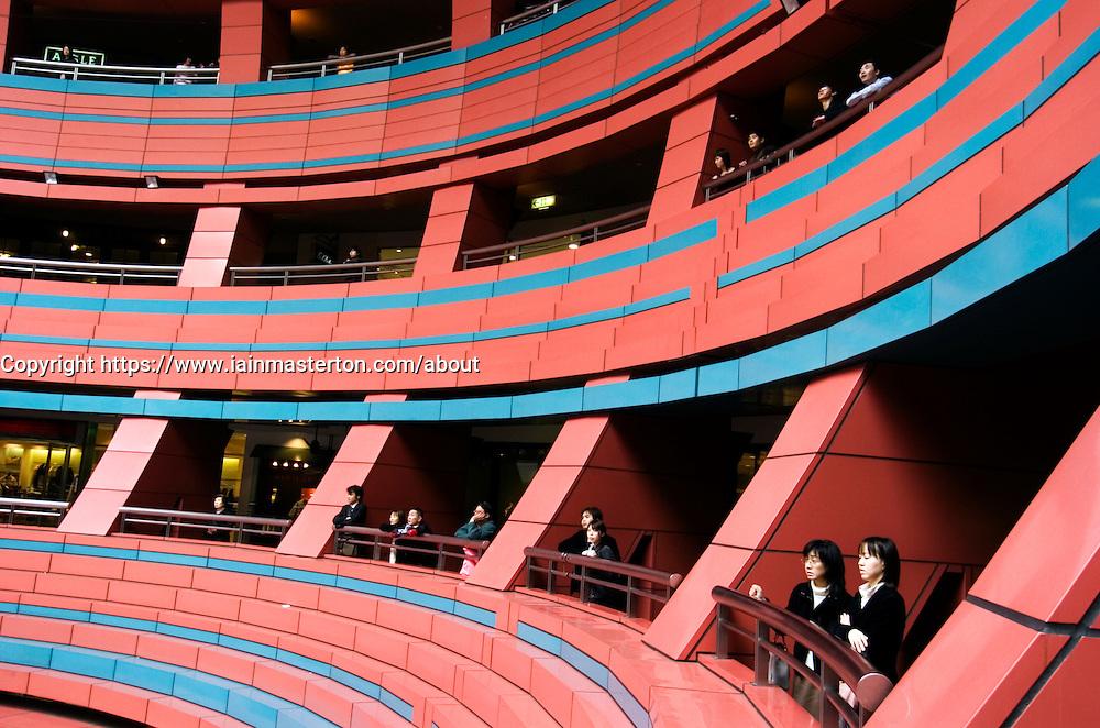 Modern architecture of Canal City shopping mall in Fukuoka Kyushu Japan