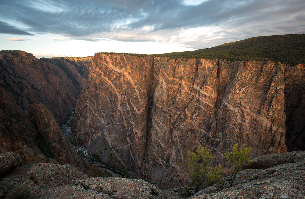 The Painted Wall in the Black Canyon of the Gunnison at sunrise