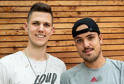 Luka Kraljević, Slovenian amateur basketball player for Boston College with his friend Jaka Kaplja, Slovenian tennis player, on June 6, 2019 in Tivoli, Ljubljana, Slovenia. Photo by Vid Ponikvar / Sportida