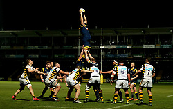 Andrew Kitchener of Worcester Cavaliers catches the ball from the line out - Mandatory by-line: Robbie Stephenson/JMP - 03/04/2017 - RUGBY - Sixways Stadium - Worcester, England - Worcester Cavaliers v Wasps A - Aviva A League