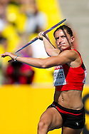 Ellen Sprunger from Switzerland competes in women's javelin while heptathlon during the 14th IAAF World Athletics Championships at the Luzhniki stadium in Moscow on August 13, 2013.<br /> <br /> Russian Federation, Moscow, August 13, 2013<br /> <br /> Picture also available in RAW (NEF) or TIFF format on special request.<br /> <br /> For editorial use only. Any commercial or promotional use requires permission.<br /> <br /> Mandatory credit:<br /> Photo by © Adam Nurkiewicz / Mediasport