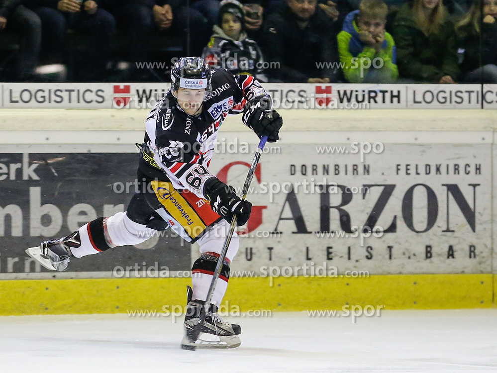 28.02.2016, Messestadion, Dornbirn, AUT, EBEL, Dornbirner Eishockey Club vs HC Orli Znojmo, Viertelfinale, 2. Spiel, im Bild Ondrej Sedivy, (HC Orli Znojmo, #64)// during the Erste Bank Icehockey League 2nd quarterfinal match between Dornbirner Eishockey Club and HC Orli Znojmo at the Messestadion in Dornbirn, Austria on 2016/02/28, EXPA Pictures © 2016, PhotoCredit: EXPA/ Peter Rinderer