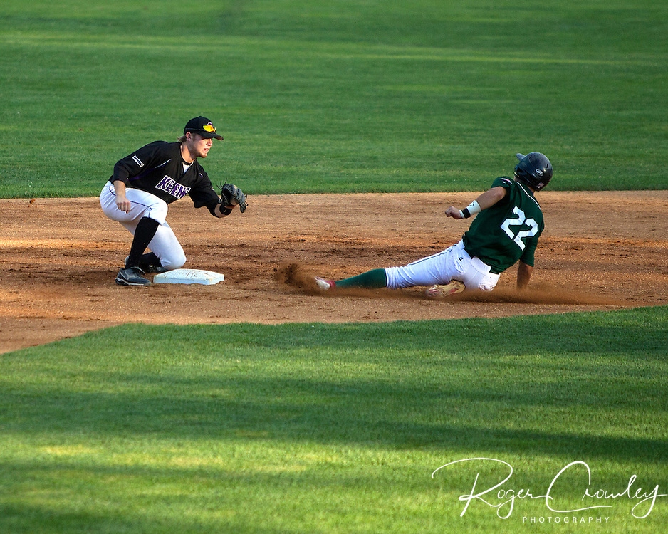 The Vermont Mountaineers had the tying run in scoring position but Aaron Barbosa grounded out to second base to end the game as another ninth inning rally came up empty in a 7-6 loss to Keene in New England Collegiate Baseball League (NECBL) action on Tuesday night.