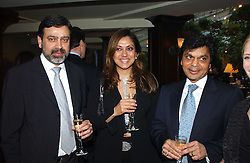 Left to right, NADEEM & VANITA AHMED and BIPIN DESAI at a fundraising dinner for the charity 'Elephant Family' held at The Bombay Brasserie, Gloucester Road, London on 26th April 2005.<br /><br />NON EXCLUSIVE - WORLD RIGHTS