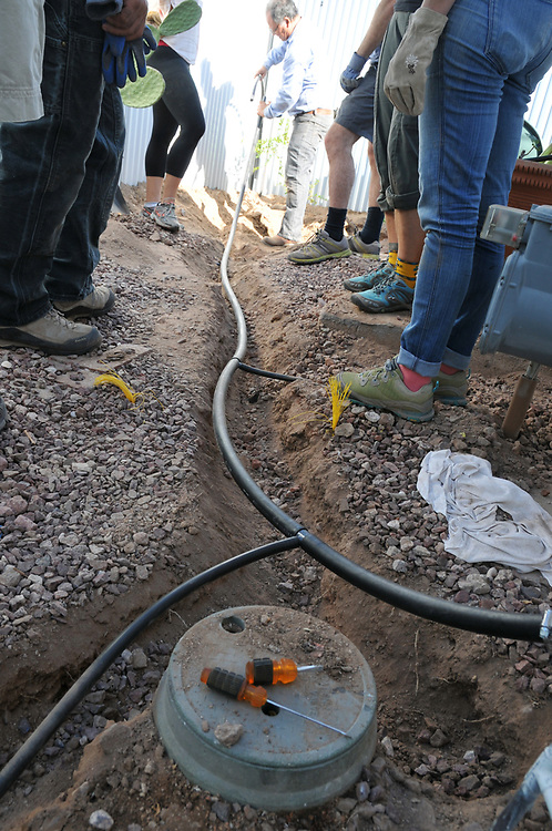 Laundry-to-landscape irrigation line is all laid out!