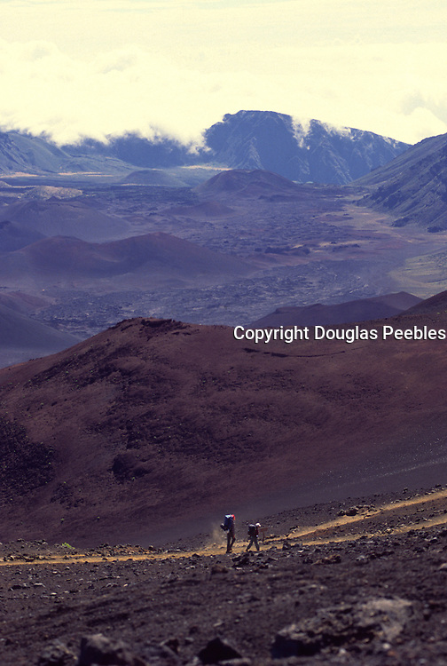 Hikers, Haleakala, Maui, Hawaii<br />