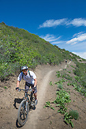 Mountain biking in Aspen, Colorado.