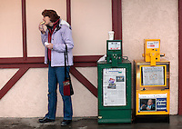 SOLDOTNA, AK- October 2:   Senator Murkowski eats a giant pastry with her morning coffee at The Moose is Loose Bakery, on her way to campaign event... Senator Lisa Murkowski (R-AK) campaigns as a write-in candidate to be re elected to the Alaskan Senate seat in Soldotna, Alaska, Saturday, October 2, 2010. (Melina Mara/The Washington Post)