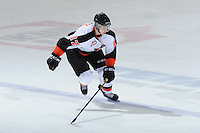 KELOWNA, CANADA, OCTOBER 11:  Reid Petryk #17 of the Medicine Hat Tigers skates on the ice as the Medicine Hat Tigers visited the Kelowna Rockets on October 11, 2011 at Prospera Place in Kelowna, British Columbia, Canada (Photo by Marissa Baecker/shootthebreeze.ca) *** Local Caption ***Reid Petryk;