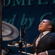 Jamison Ross, winner of the Thelonius Monk International Jazz Drums competition, performs at the 25th annual Thelonious Monk International Jazz Competition and ?Women, Music and Diplomacy? All-Star Gala Concert at the Kennedy Cener.