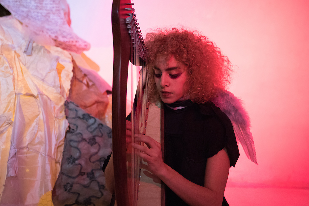 Sharleen Chidiac in Gina Chiappetta's Rosemary for Remembrance, Otion Front Studio, Brooklyn 2017