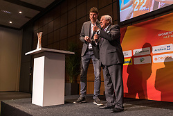31-01-2019 NED: Kick-off World Championship  Volleybal 2022, Arnhem<br /> Presentation of the kick off World Championship Volleyball held in Netherlands an Poland / Bas van de Goor and Ary S. Graça