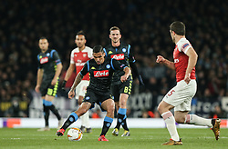 Allan of Napoli passes the ball - Mandatory by-line: Arron Gent/JMP - 11/04/2019 - FOOTBALL - Emirates Stadium - London, England - Arsenal v Napoli - UEFA Europa League Quarter Final 1st Leg