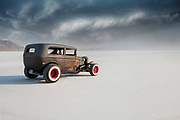 Image of a hot rod racecar at Speed Week 2018 at the Bonneville Salt Flats, Utah, American Southwest