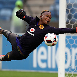 Brilliant Khuzwayo G/K of Kaizer Chiefs during the Telkom Knockout quarterfinal  match between Kaizer Chiefs and Free State Stars at the Moses Mabhida Stadium , Durban, South Africa.6 November 2016 - (Photo by Steve Haag Kaizer Chiefs)